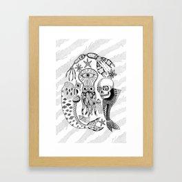 Sea Creatures Framed Art Print