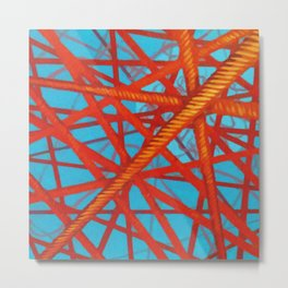 Red Thread Metal Print