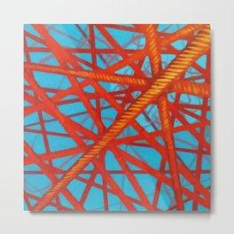 Red Thread Metal Print