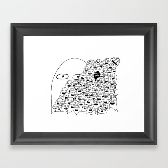 The Lonely Hearts  Framed Art Print