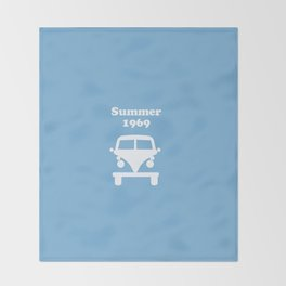Summer 1969 -  lt. blue Throw Blanket