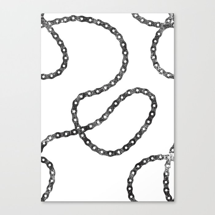 bicycle chain repeat pattern Canvas Print