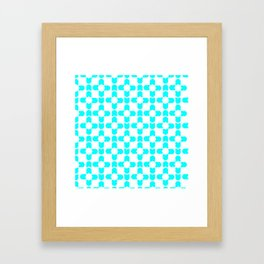 Blue Cats Pattern Framed Art Print