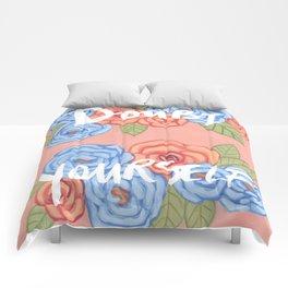 Doubt Yourself - Motivational Illustration Comforters