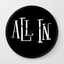 All In: black Wall Clock