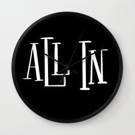 All In: black Wall Clock