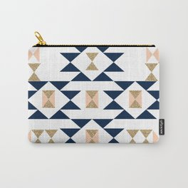 Jacs - Modern pattern design in aztec themed pattern navajo print textile cute trendy girl Carry-All Pouch