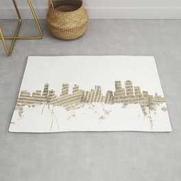 Denver Colorado Skyline Sheet Music Cityscape Rug