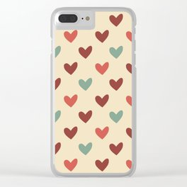 Christmas love candy Clear iPhone Case