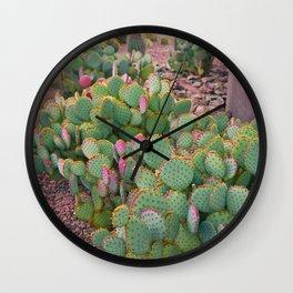 Prickly Pear Cactus Arizona Wall Clock