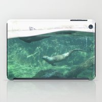 otters iPad Cases featuring Swimming Otters by Pokemon-Chick-1