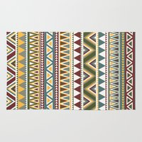 aztec Area & Throw Rugs featuring Aztec by Dianne Delahunty