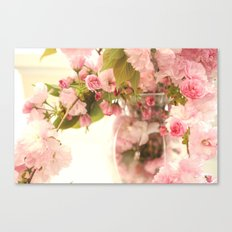 Dreamy Pink Apple Blossoms  Canvas Print