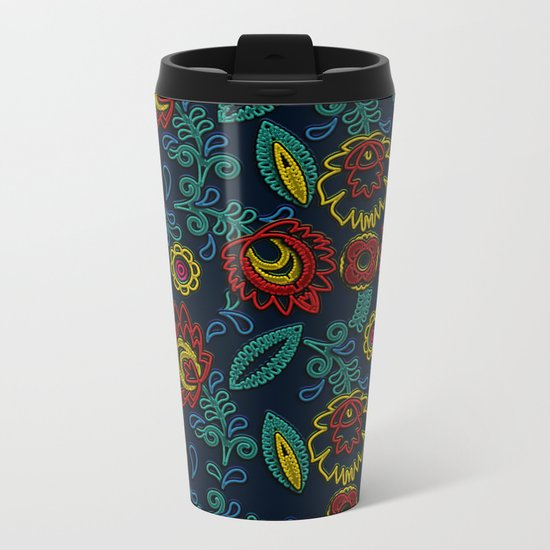 Embroidery Metal Travel Mug