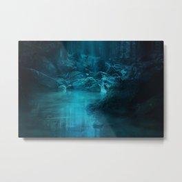 Fantasy River Landscape Metal Print