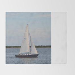 Nantucket Sail boat Throw Blanket