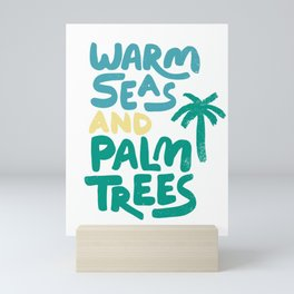 Warm Seas and Palm Trees Vintage Mini Art Print