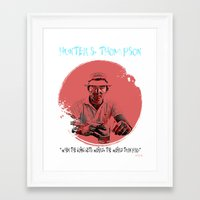 hunter s thompson Framed Art Prints featuring HUNTER S. THOMPSON by Art By MOP$