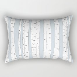 Aspen Forest - Blue Grey Vertical Rectangular Pillow