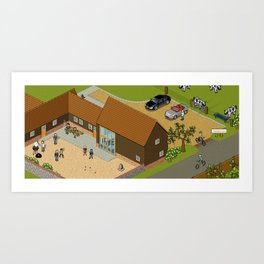 Headscape Barn Art Print