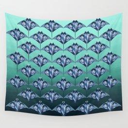Manta ray - Sapphire Wall Tapestry
