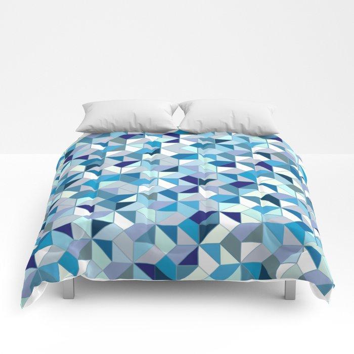 Geometrica (blue) Comforters
