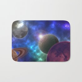 Space Expedition Bath Mat