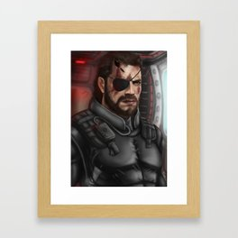 MGS Big Boss Framed Art Print