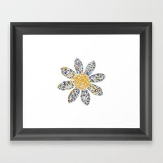 Mosaic Flower 002 Framed Art Print