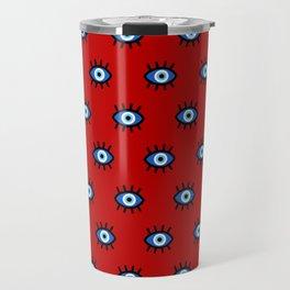 Evil Eye on Red Travel Mug