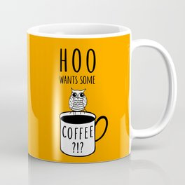 Coffee poster with owl Coffee Mug