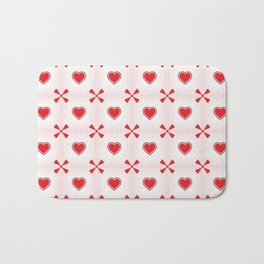 Seamless hearts pattern Bath Mat