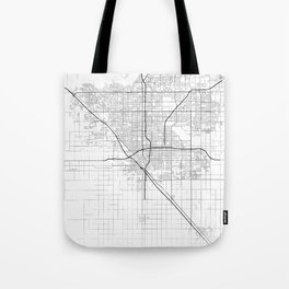 Minimal City Maps - Map Of Fresno, California, United States Tote Bag