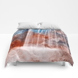 Acrylic Urbex Falls Comforters