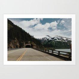 Portage Glacier Highway, AK Art Print