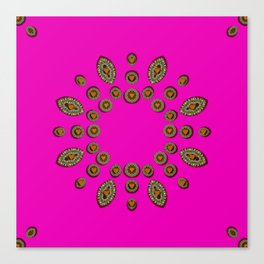 Sweet hearts in  decorative metal tinsel Canvas Print
