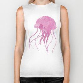 Watercolor Jellyfish Biker Tank