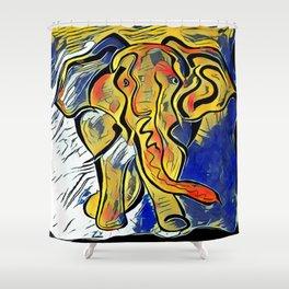 Lilys Elephant Shower Curtain