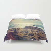 chile Duvet Covers featuring Quintero, Chile. by Viviana Gonzalez
