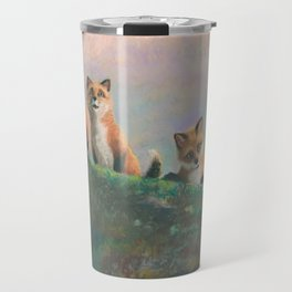 Red Fox Kits First Outing Travel Mug
