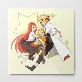 Minato Kushina and Naruto Metal Print