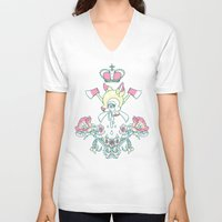 kendrawcandraw V-neck T-shirts featuring King Bambi by kendrawcandraw