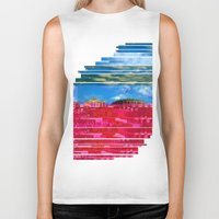 oslo Biker Tanks featuring Beautifully Glitched Oslo, Norway by GlitchedGirl