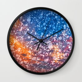 Vintage Marbled Sunset Wall Clock