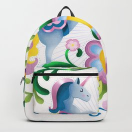 The Royal Society Of Cute Unicorns Light Background Backpack