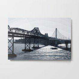 New and old bay bridge Metal Print