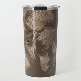 Dogwood Tree Flowers (sepia) Travel Mug