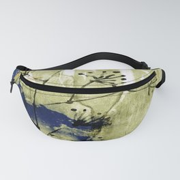 plant on blue wall Fanny Pack