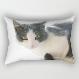 A Max And Mantle Bi Colour Cat Isolated Rectangular Pillow