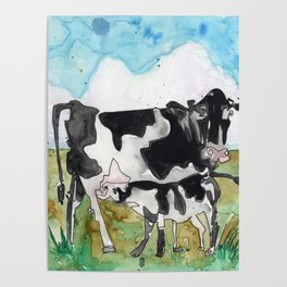 Cow Mommy Poster